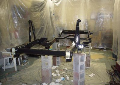 Painting the Jeep Frame