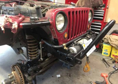 jeep tj custom sway bar and hydro assist steering