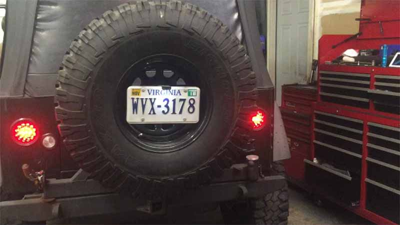 Frenching in Jeep TJ LED tail Lights
