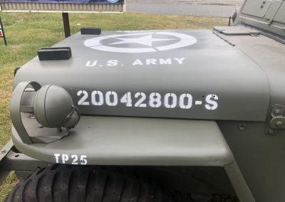 1950 Willys Jeep M38 Hood Graphics